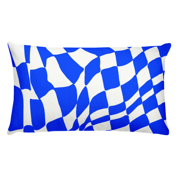 Blue Checker Sway Stuffed Pillows