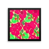 Flower Knit Berry Framed Poster