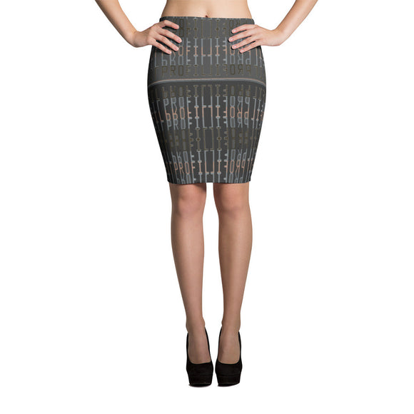 Profil Dark Grey Pencil Skirt