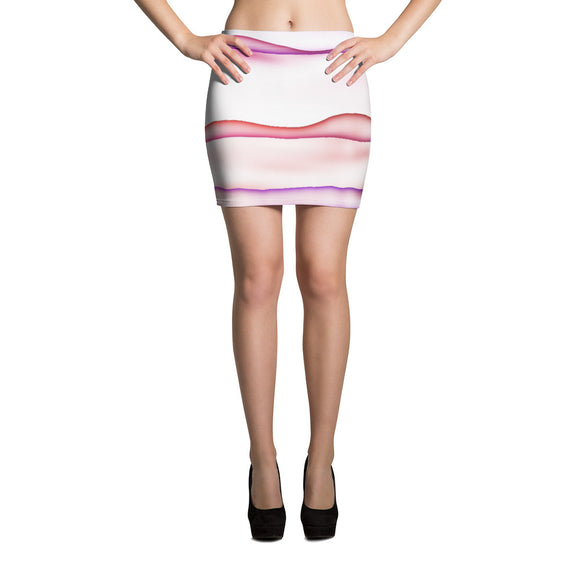 Wet Lines Mini Skirt
