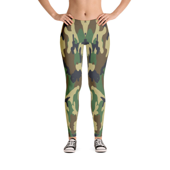 Found Camo-print Leggings