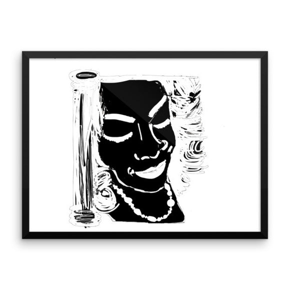 Face the White Framed Poster