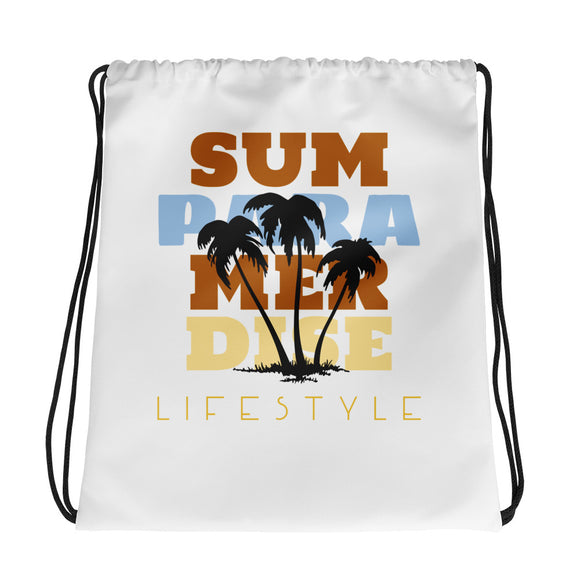 Summer Paradise Lifestyle Drawstring Bag