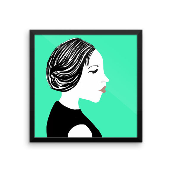 Salon Mint Touch Framed Posters
