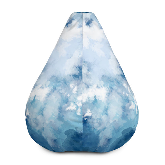 Blue Watercolor Bean Bag Chair w/ filling