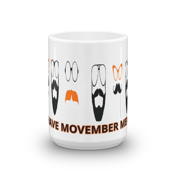 No Shave Movember Member 11 - 15 Ounce Ceramic Mugs
