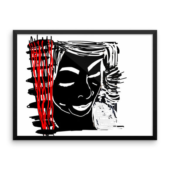 Face the Red Framed Poster