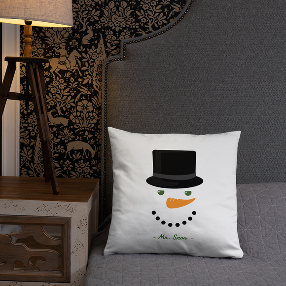 Mr. Snow 18 inch Square Super Soft Stuffed Pillow