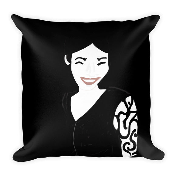 Bellisima's (Black) Square Pillow