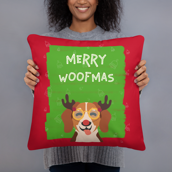 Merry Woofmas Terrier Super Soft Stuffed Pillows (2 Sizes)