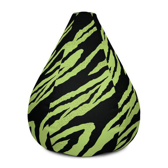 Tiger Green Bean Bag Chair w/ filling