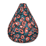 Pink Leopard Bean Bag Chair w/ filling
