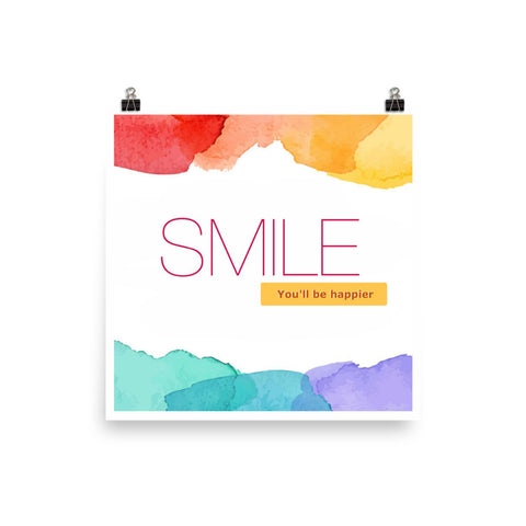 Smile and be Happier Poster
