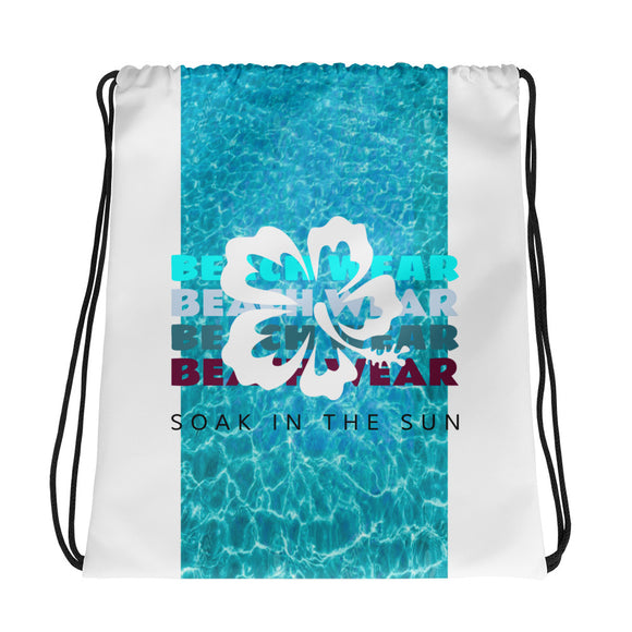 Soak in the Sun Beachwear Drawstring Bag