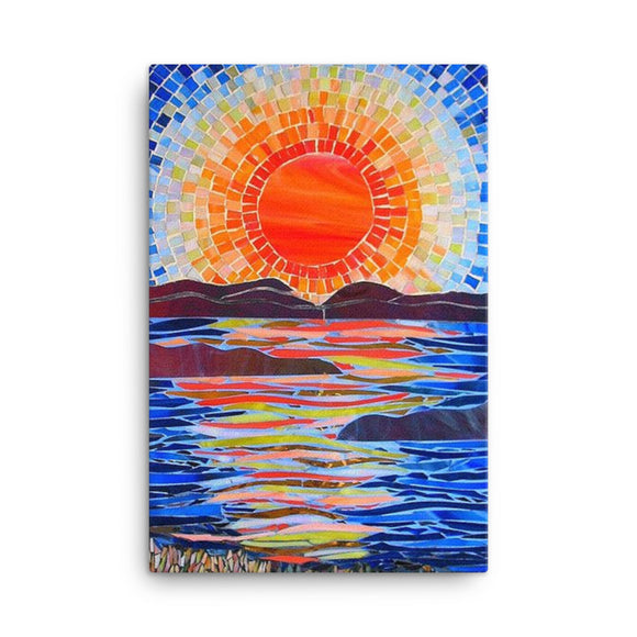 Sun Lake Canvases (in) 3 sizes--Personalization Canvas