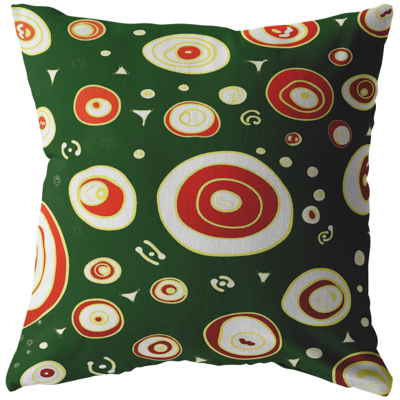 Geo Christmas Personalization Pillows (4 sizes)--Upload Your Own Image!