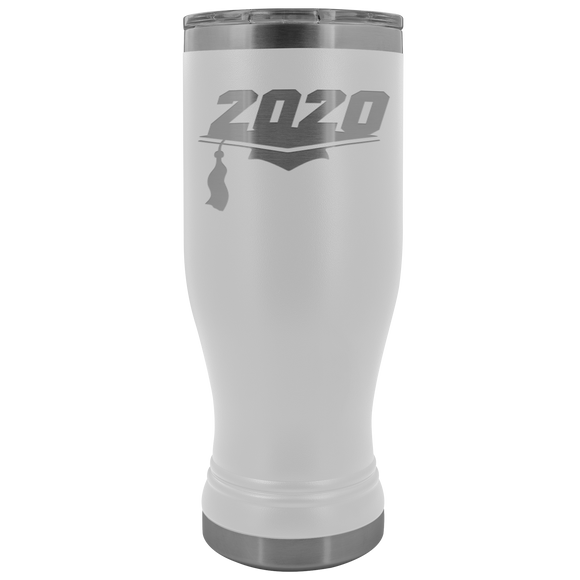 2020 Graduation Year 20 Ounce BOHO Stainless Steel Tumbler (12 Colors)