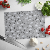 Polar Bears Winter Scene Tempered Glass Cutting Board