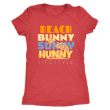 Beach Bunny Sunny Hunny Lifestyle- Womens Next Level Triblend Tops