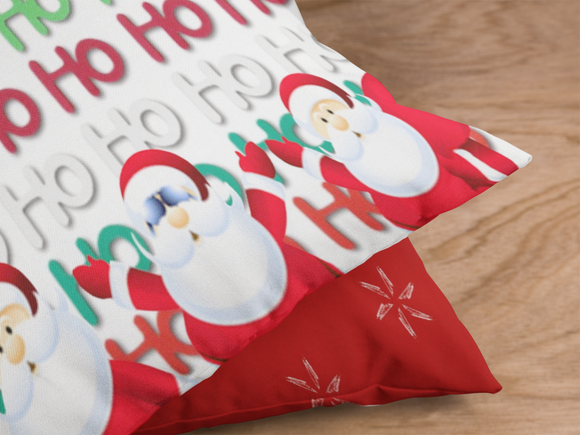 HO HO HO Santas Pillow 2