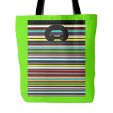 "Carlisle Tote-Regents bright green. 18""x18"". Full price is $25.00."