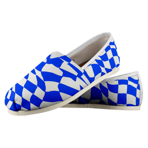 Blue Checker Sway Espadrille Casual Shoe (Sizes US 4.5-14)
