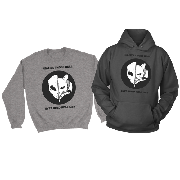 REAL Statement Sweatshirt and Unisex Alien Hoodie--Super Combo Deal