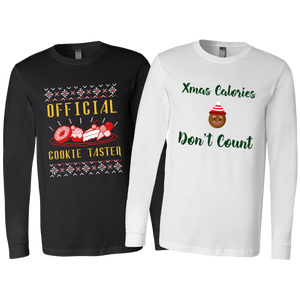 His & Hers Foodie Christmas Long Sleeve Shirts (Combo Sizes S-2XL)