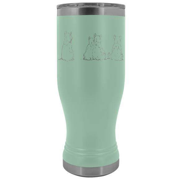 Polar Bear Family 20 Ounce BOHO Tumblers (12 Colors)