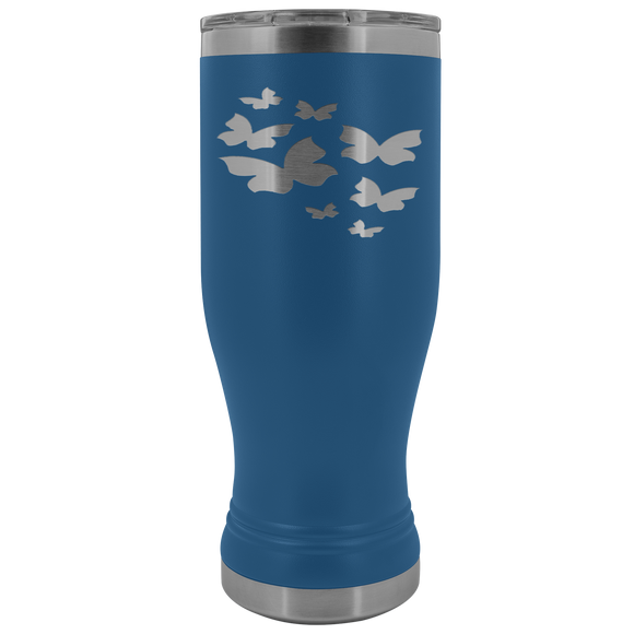 Winsome Butterflies 20 Ounce BOHO Stainless Steel Tumbler (12 Colors)