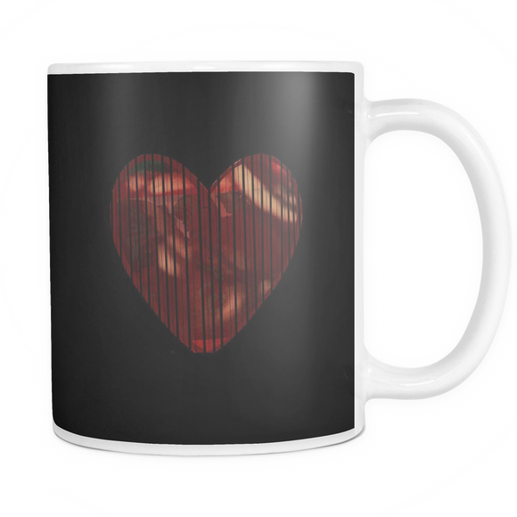 Shaded Heart Mug (black)