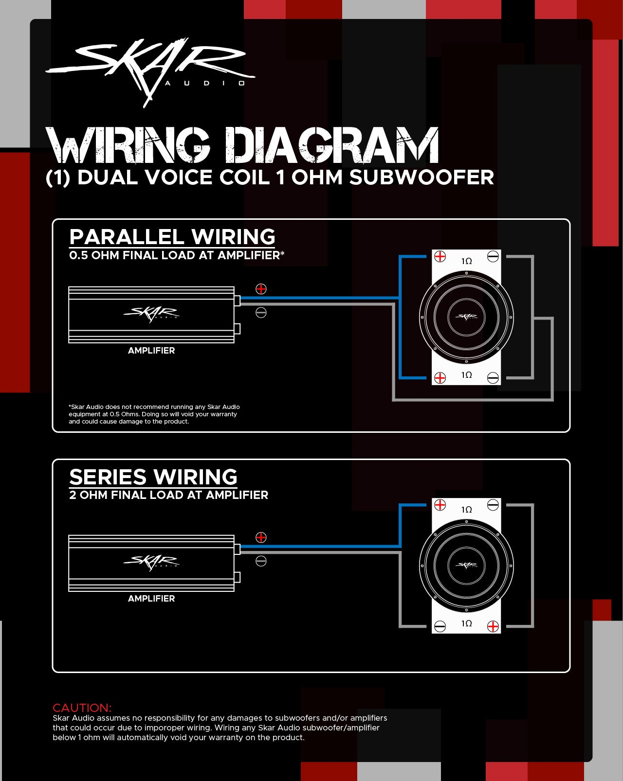 Dual Voice Coil Subwoofer Wiring Guides Skar Audio Knowledge Base Help Desk