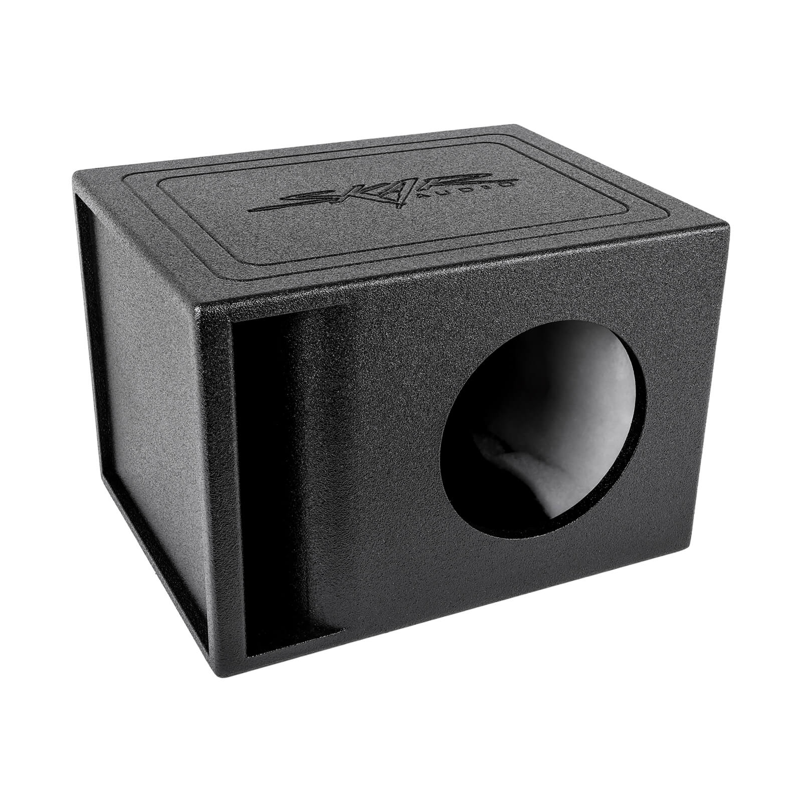 "Skar Audio AR1X8V - Single 8"" Armor Coated Ported Subwoofer Enclosure with Kerf Port - Main Image"