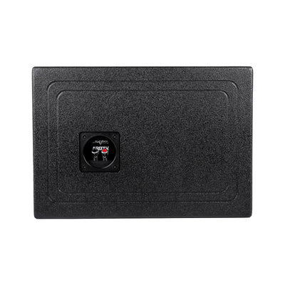 "Skar Audio AR1X8V - Single 8"" Armor Coated Ported Subwoofer Enclosure with Kerf Port - Rear of Box Image"