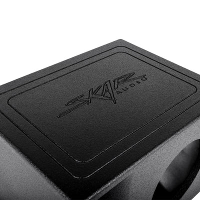 "Skar Audio AR1X8V - Single 8"" Armor Coated Ported Subwoofer Enclosure with Kerf Port - Top of Box Image"