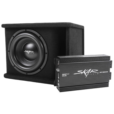 "Skar Audio Single 10"" SDR Series Complete Bass Package - Secondary Image"