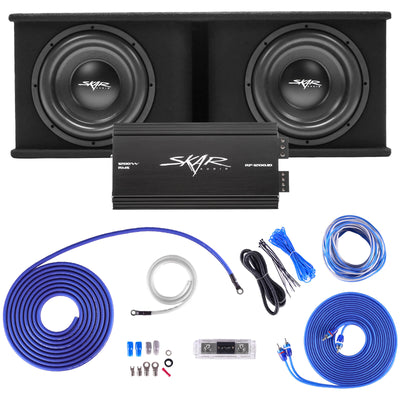 "Skar Audio Dual SDR 12"" 2400 Watt Loaded Sub Box and Amplifier - Bundle Products View"