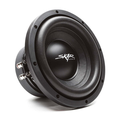 "Skar Audio Triple 8"" SDR Series 2100 Watt Complete Bass Package with Loaded Sub Box and Amplifier - Front View"