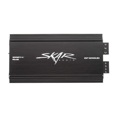 "Skar Audio Triple 8"" SDR Series 2100 Watt Complete Bass Package with Loaded Sub Box and Amplifier - Rear View"