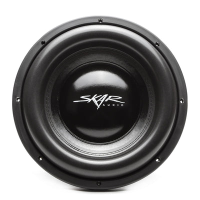 Skar Audio EVL-12 12-inch 2,500 Watt Max Power Car Subwoofer - Front View