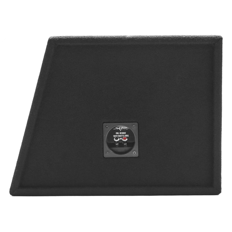"Skar Audio EVL-1X10D2 Single 10"" EVL Loaded Vented Subwoofer Enclosure - Terminal View"
