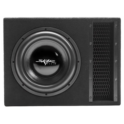 "Skar Audio Single EVL 12"" 2500 Watt Loaded Sub Box and Amplifier - Front View"