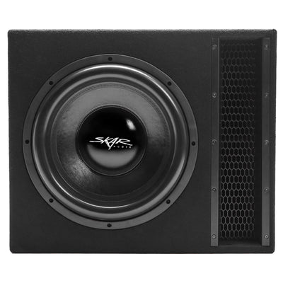 "Skar Audio EVL-1X15D2 Single 15"" EVL Loaded Vented Subwoofer Enclosure - Front View"