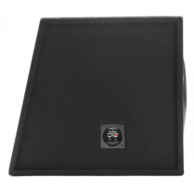 "Skar Audio EVL-1X15D2 Single 15"" EVL Loaded Vented Subwoofer Enclosure - Side Angle View"