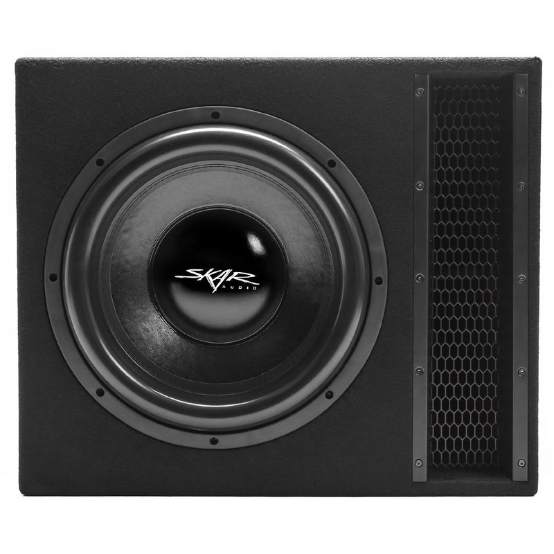 "Skar Audio Single EVL 15"" 2500 Watt Loaded Sub Box and Amplifier - Front View"