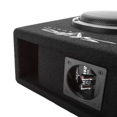 "EVL-1X65D4-V-LP | Low-Profile 6.5"" 400 Watt Loaded Vented Subwoofer Enclosure - Port View Image"