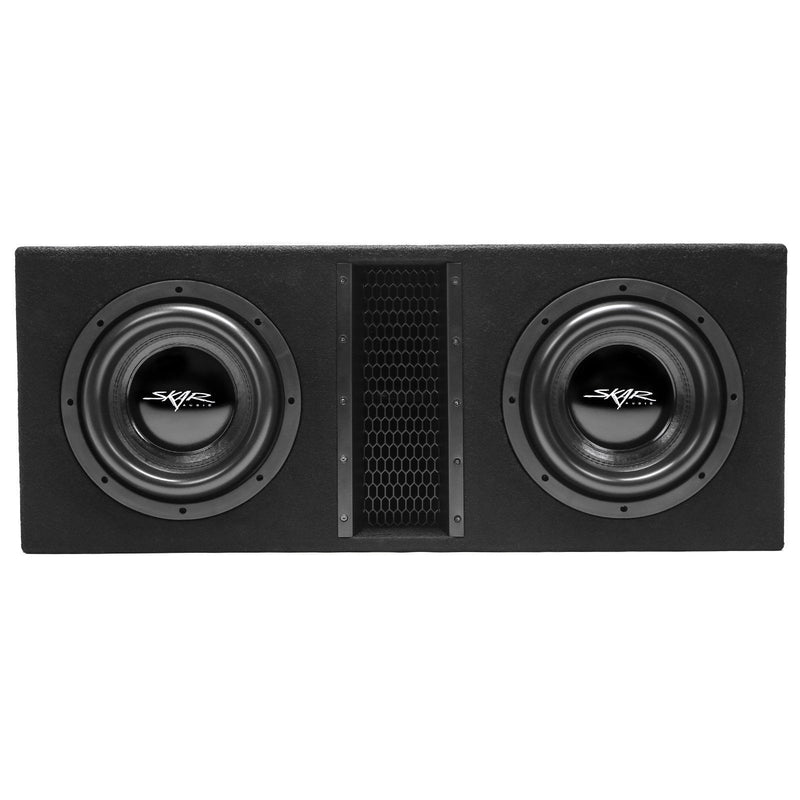 "Skar Audio EVL-2X10D4 Dual 10"" EVL Loaded Vented Subwoofer Enclosure - Front View"