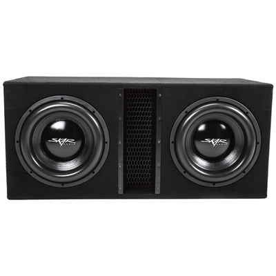 "Skar Audio EVL-2X12D4 Dual 12"" EVL Loaded Vented Subwoofer Enclosure - Front View"