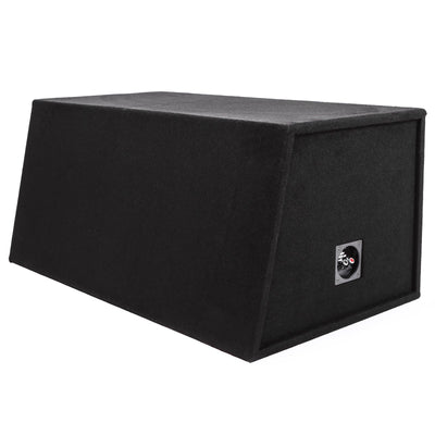 "Skar Audio EVL-2X12D4 Dual 12"" EVL Loaded Vented Subwoofer Enclosure - Rear View"