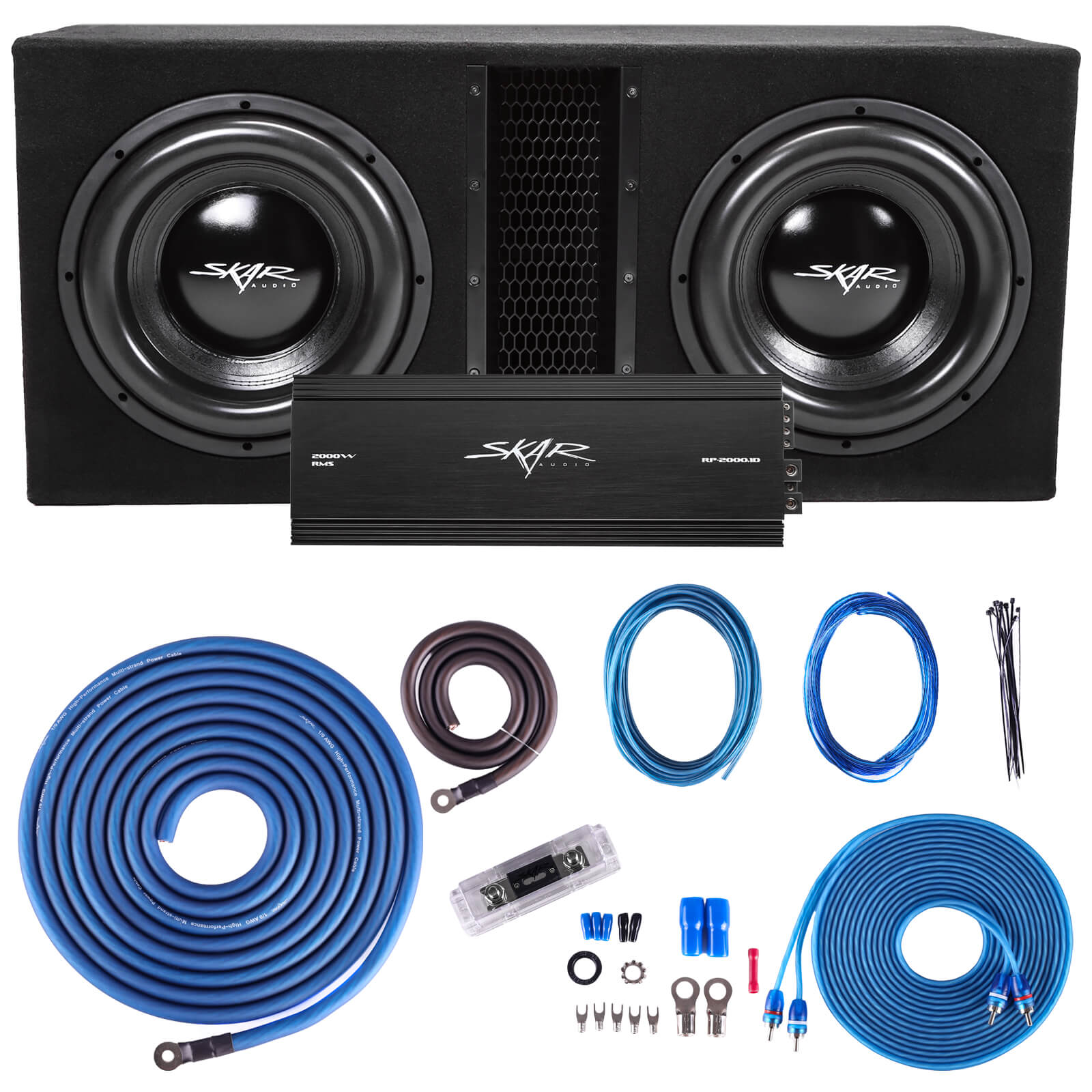 "Skar Audio EVL-2X12D4 Dual 12"" EVL Loaded Vented Subwoofer Package - Main Image"